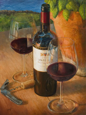 Artwork by doyle artwork gallery paintings for Wine and painting mn